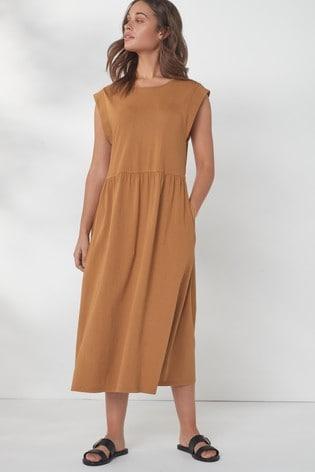 Tan T-Shirt Dress