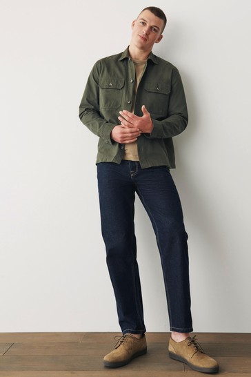 Khaki Green Lightweight Shacket