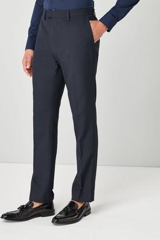 Navy Blue Slim Fit Tuxedo Suit Trousers
