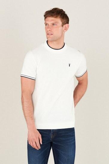 Ecru Turtle Neck T-Shirt