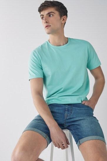 Aqua Regular Fit Crew Neck T-Shirt