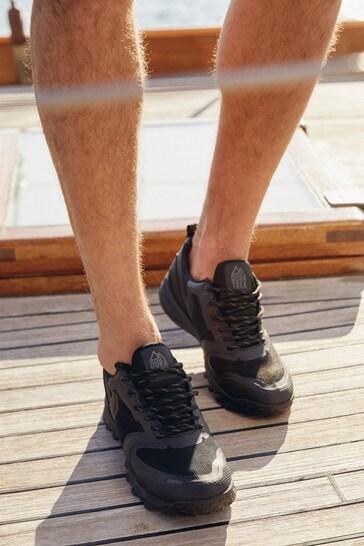 Black Duratrek Water Resistant Walking Shoes