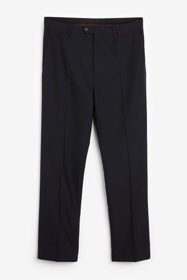 Navy Blue Slim Fit Suit: Trousers