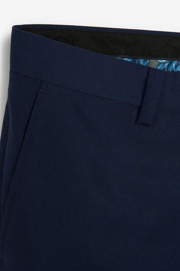 Bright Blue Slim Fit Suit: Trousers