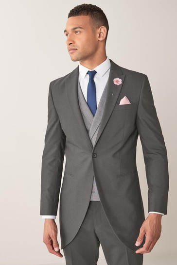 Charcoal Slim Fit Morning Suit: Jacket