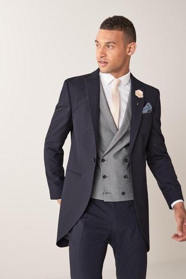 Navy Slim Fit Morning Suit: Jacket