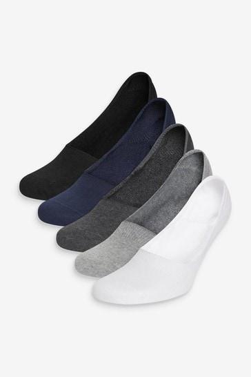 Multi 5 Pack Invisible Socks