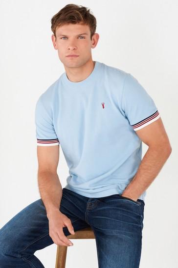 Light Blue Turtle Neck T-Shirt