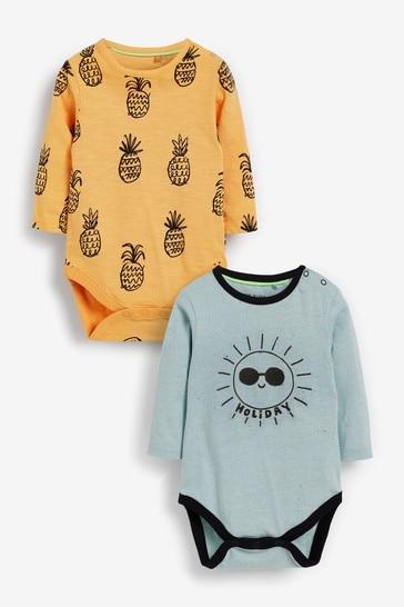 Myleene Klass Baby Long Sleeve Bodysuits 2 Pack