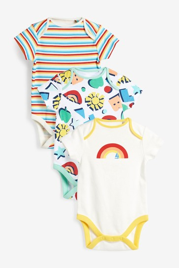 Little Bird Bright Short Sleeve Bodysuits 3 Pack