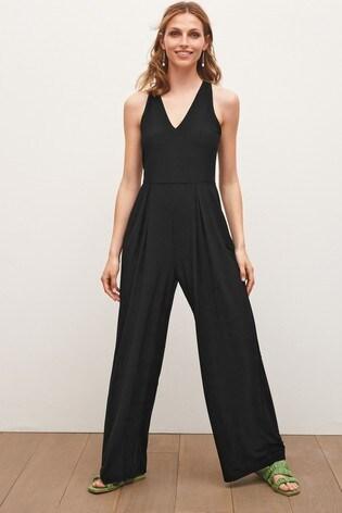 Black Halterneck Jumpsuit