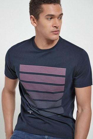 Navy Bar Graphic T-Shirt