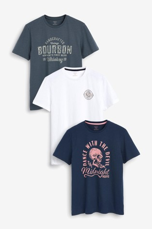 Skull Mix Graphic T-Shirts 3 Pack