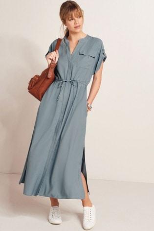 Aqua Relaxed Midi Dress