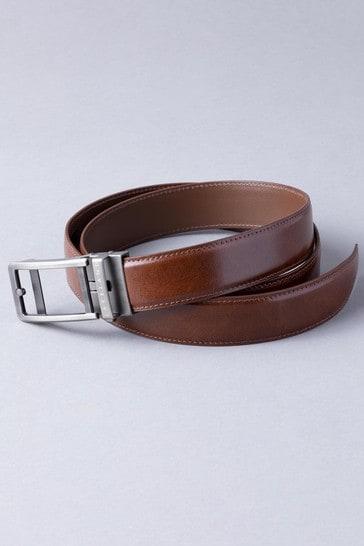Brown Lakeland Leather Ratchet Leather Belt