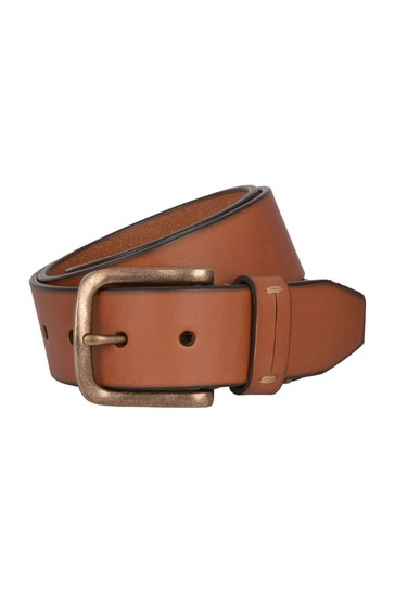 Dark Cognac Brown Lakeland Leather Levens Leather Belt