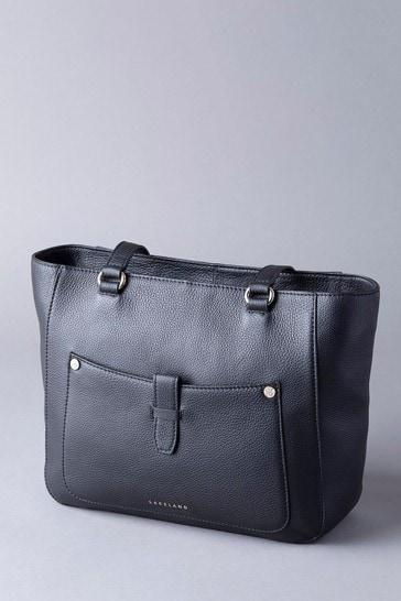 Lakeland Leather Fairfield Black Leather Tote Bag