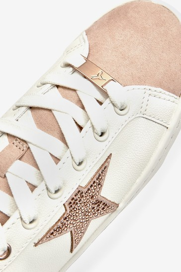 White/Rose Gold Regular/Wide Fit Forever Comfort® Star Lace-Up Trainers