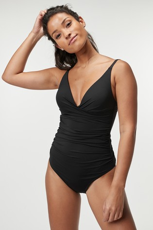 Black High Apex Shape Enhancing Swimsuit