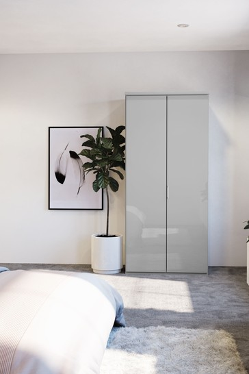 Peyton 1M Glass Hinged 2 Door Wardrobe