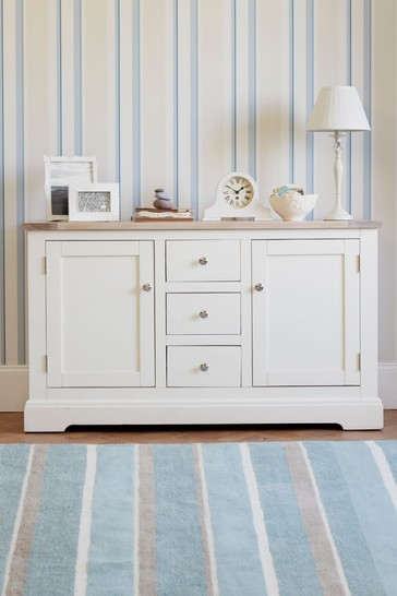 Dorset White 2 Door 3 Drawer Sideboard by Laura Ashley