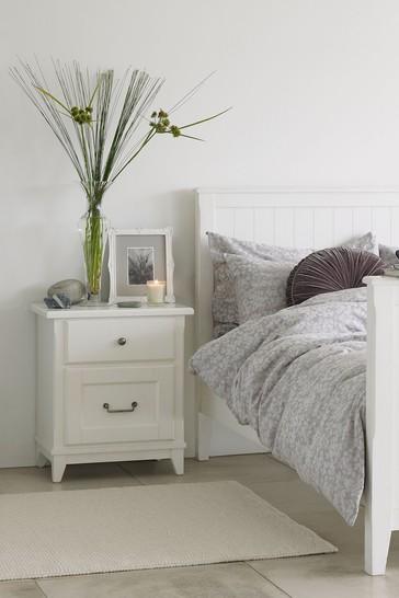 Devon White 2 Drawer Bedside Chest by Laura Ashley