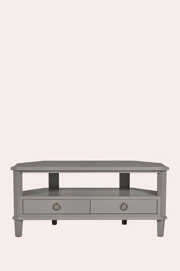 Henshaw Pale Charcoal 2 Drawer Corner Tv Unit by Laura Ashley