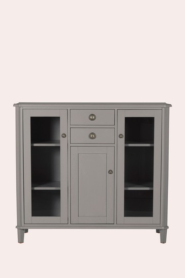 Henshaw Pale Charcoal 3 Door 2 Drawer Low Display Unit by Laura Ashley