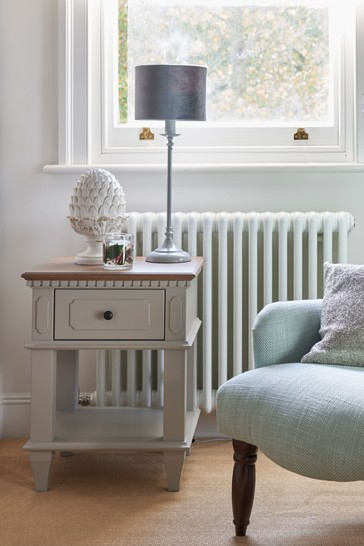 Hanover Pale French Grey 1 Drawer Side Table