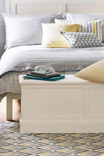 Ashwell Cotton White Blanket Box