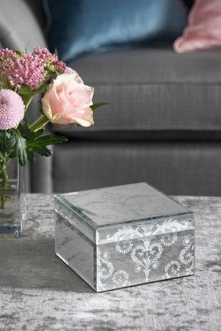 Laura Ashley Josette Mirror Medium Jewellery Box