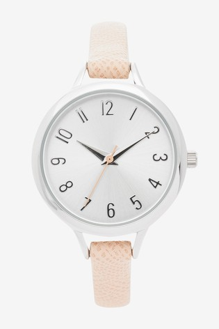 Pale Pink Simple Strap Watch
