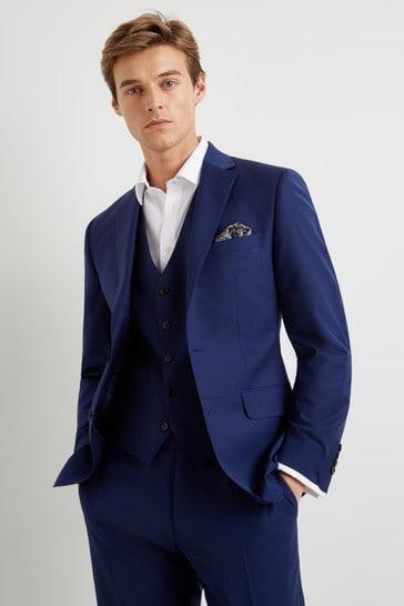 Moss 1851 Performance Royal Blue Suit: Jacket