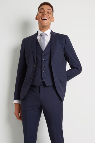 Moss London Skinny Fit Ink Suit: Jacket