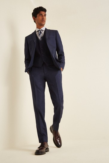 Moss London Blue Skinny Fit Twisted Suit: Jacket