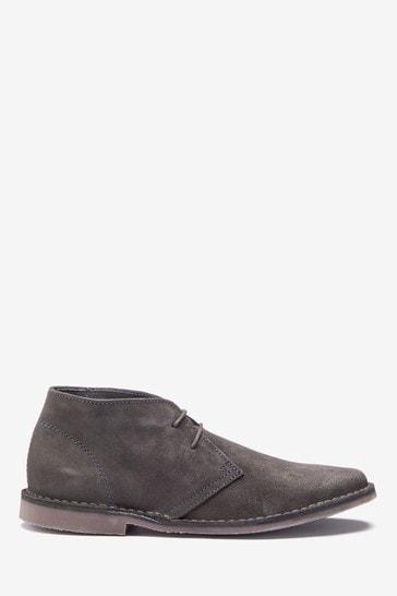 Dark Grey Desert Boots