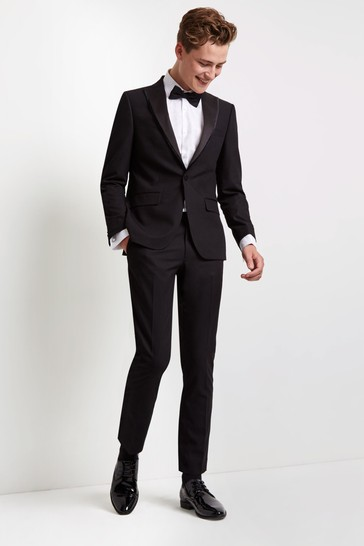 Moss London Skinny Fit Black Dress Suit: Jacket