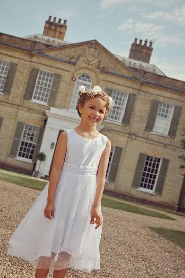 White Bridesmaid Dress (3mths-16yrs)