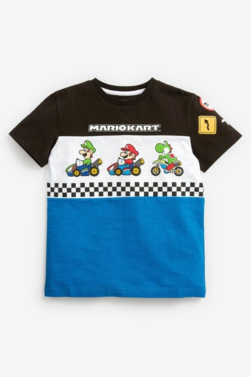 Blue Mario Kart Gaming License T-Shirt (3-16yrs)