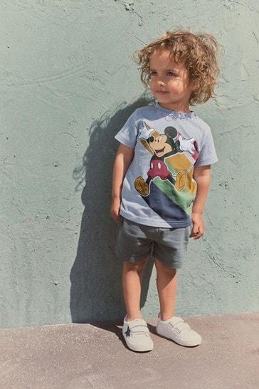 Blue Mickey Rainbow T-Shirt (3mths-8yrs)