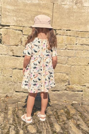 Ecru Dash Button Through Dress (3mths-7yrs)