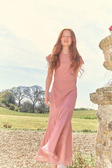 Pink Bridesmaid Dress (10-16yrs)