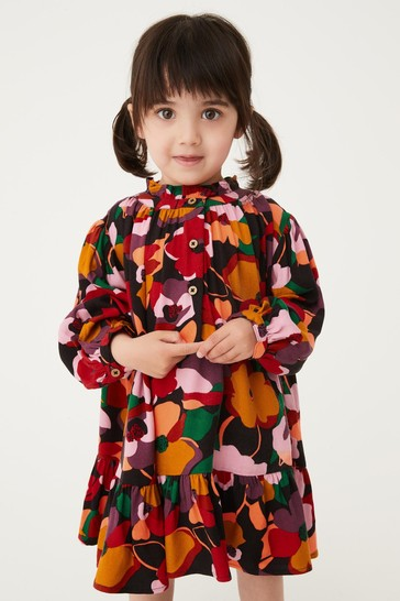 Bright Floral Oversized Printed Dress (3mths-7yrs)