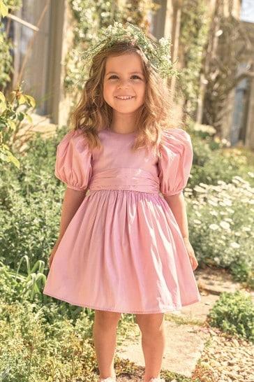 Pink Taffeta Bridesmaid Dress (3mths-8yrs)