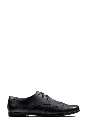 Clarks Black Scala Lace Y Shoes