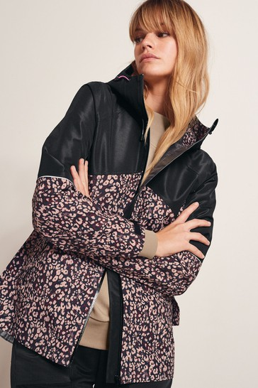 Animal Print Lightweight Waterproof Jacket