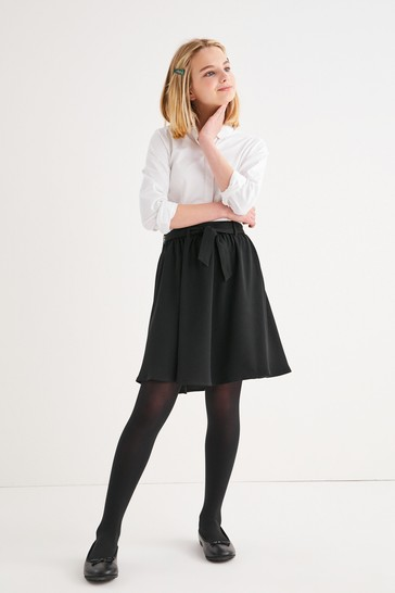 Black Tie Front Skirt (3-16yrs)