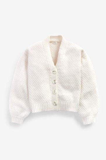 Cream Super Soft Cosy Cardigan (3-16yrs)