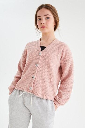 Pink Super Soft Cosy Cardigan (3-16yrs)