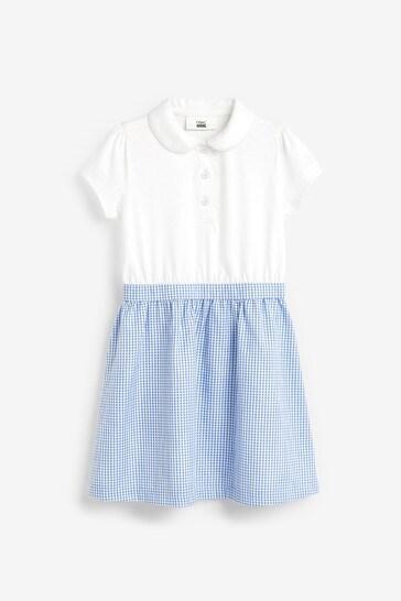Blue Gingham Skirt Dress (3-14yrs)
